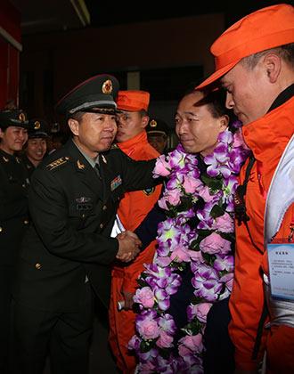 战友的欢迎仪式